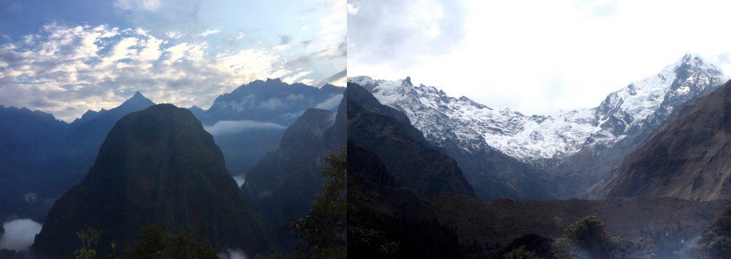 攀登的過程,一路可見震撼人心的山景。