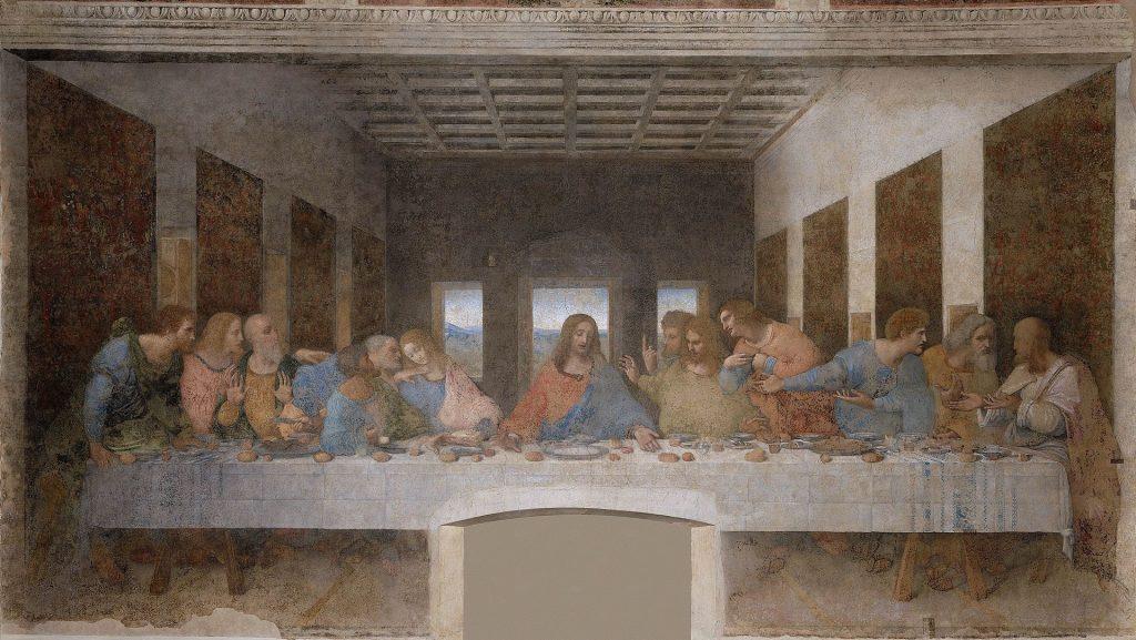 最後的晚餐,Il Cenacolo or L'Ultima Cena, 李奧納多·達·文西, 1494–1498,460 cm × 880 cm,米蘭恩寵聖母