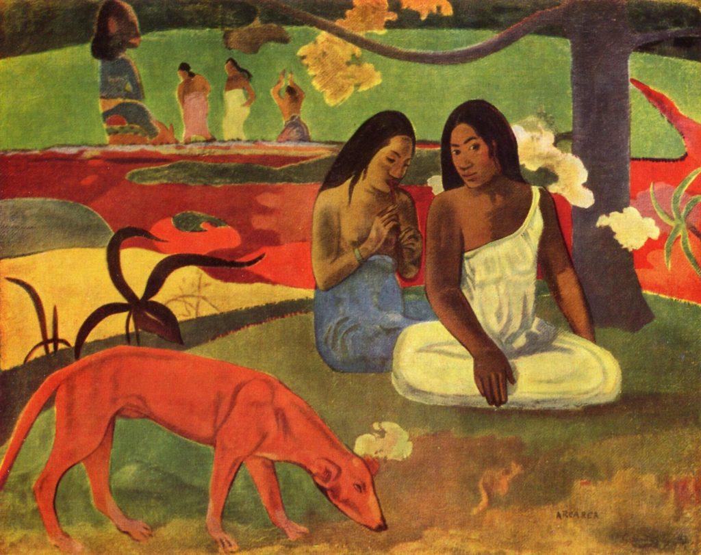 享樂 (大溪地語: Arearea / 英: Joyfulness) 高更 (Paul Gauguin) 1892, 75cm x 94 cm 巴黎奧賽美術館 ( Musée d'Orsay, Paris)
