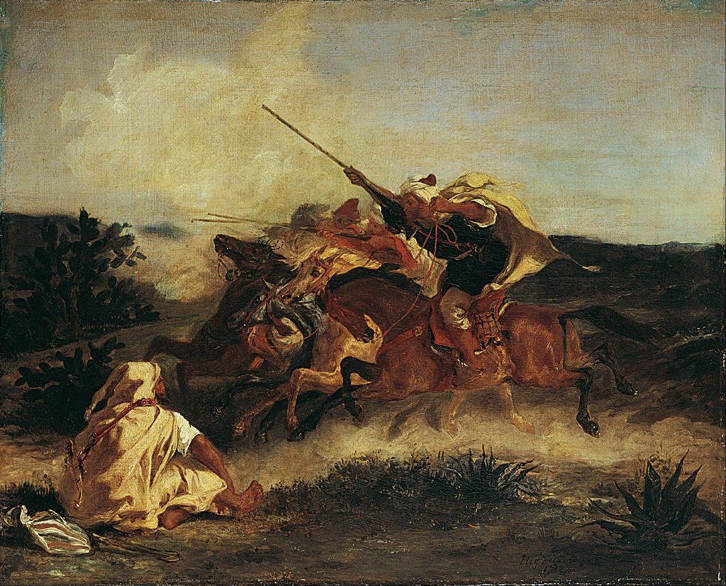 阿拉伯幻想曲(法:Fantasia Arabe / Fantasia Arab) 1833, 74.5 cm x 60.5 cm 法蘭克福 施泰德美術館(Städel, Frankfurt)
